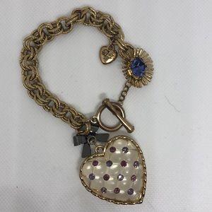 Betsey Johnson Charm Bracelet   NJ10